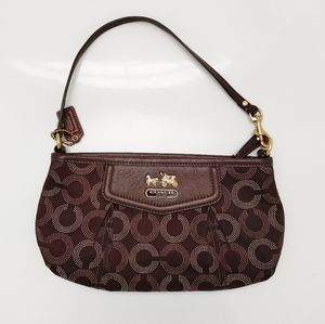 Coach Brown Stagecoach Wristlet